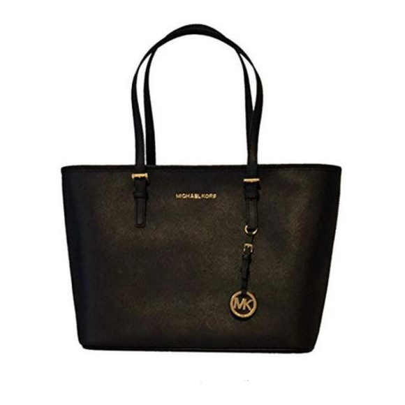 91a1356fb7cf Michael Kors Bags | Jet Set Saffiano Leather Zip Tote Bag | Poshmark
